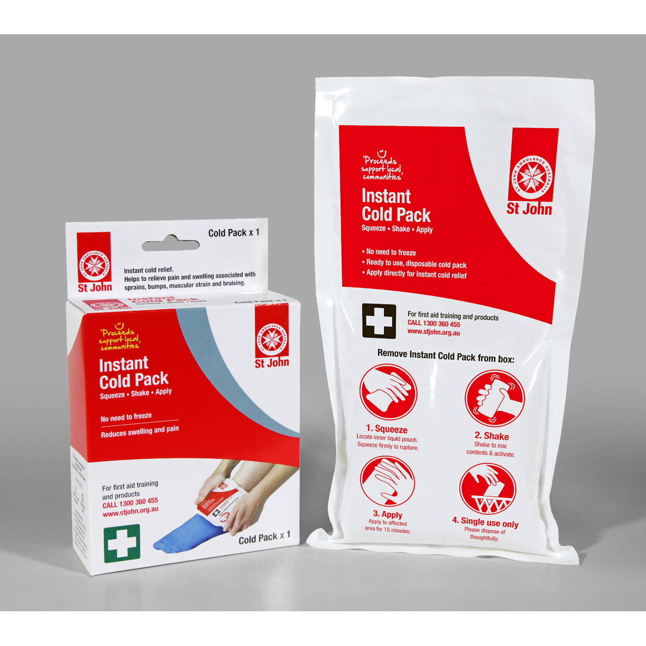 Non-Freeze Instant Cold Pack | St John Ambulance Australia First Aid