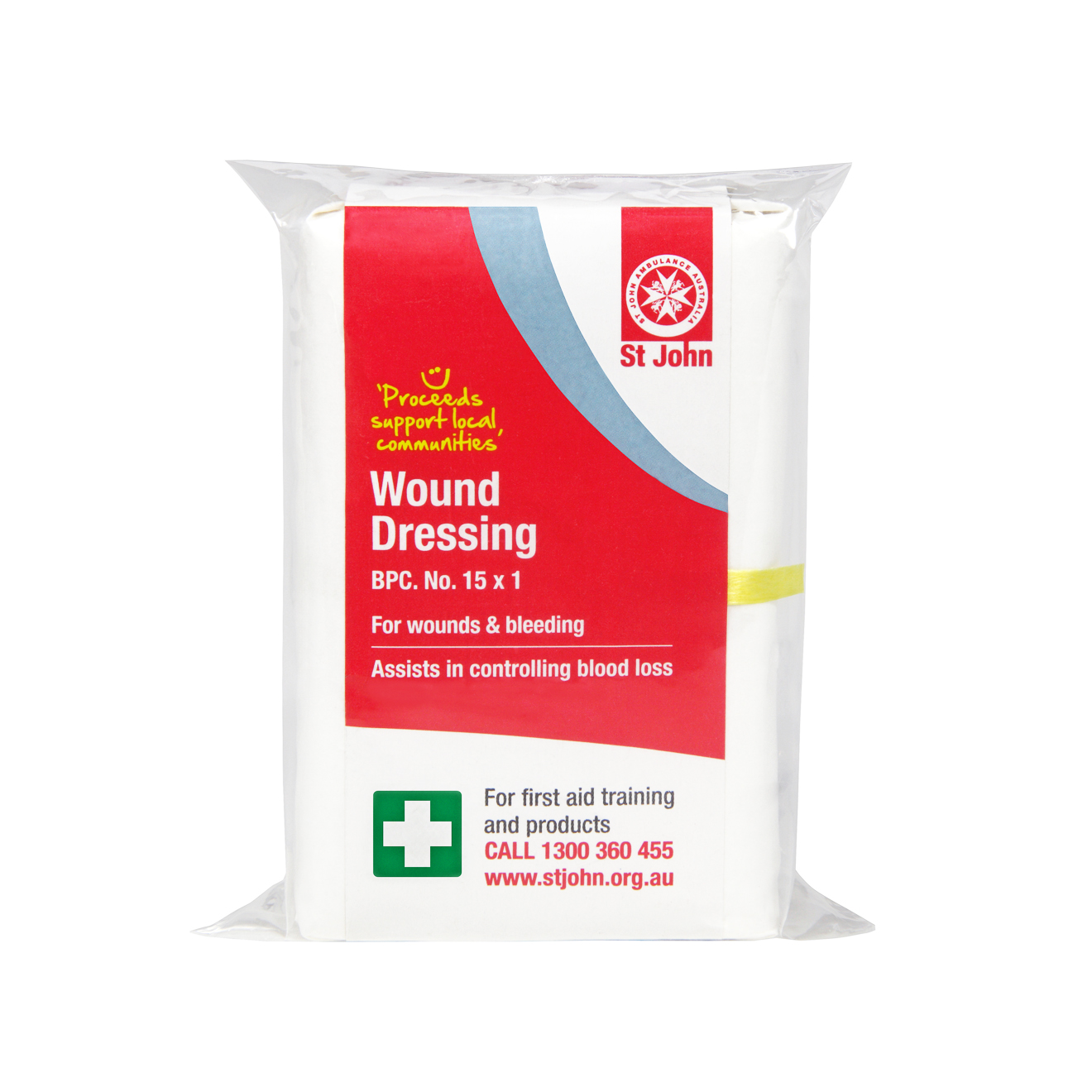 wound dressing st john ambulance australia first aid kits supplies. Black Bedroom Furniture Sets. Home Design Ideas