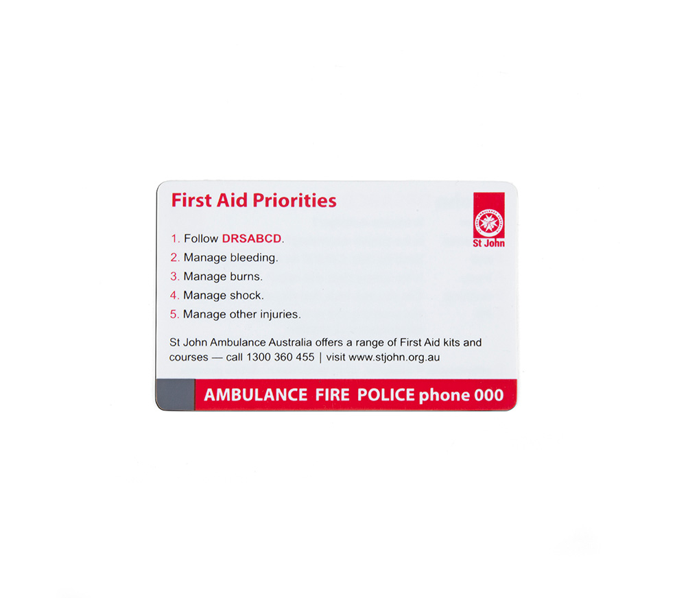 Drsabcd action plan plastic wallet card st john ambulance drsabcd action plan plastic wallet card 1betcityfo Images